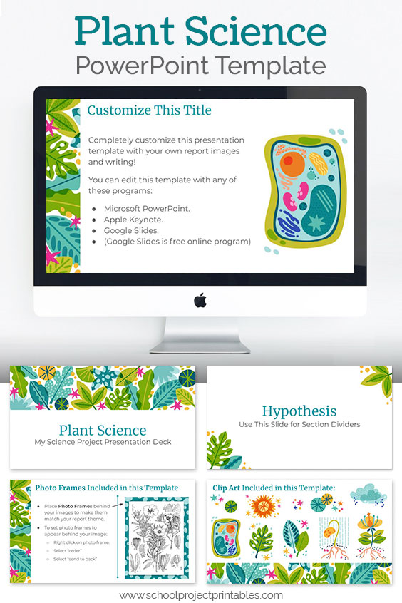 Downloadable Plant Science themed PowerPoint template