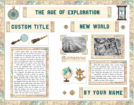 Age of Exploration Fair display poster made from SchoolProjectPrintables.com kit