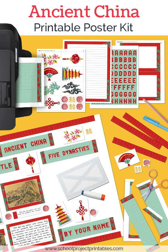 Printable kit for Ancient China projects.