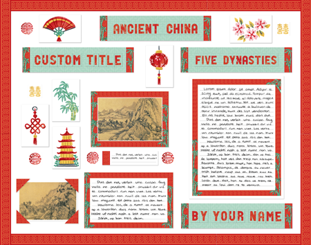 Ancient China Fair display poster made from SchoolProjectPrintables.com kit