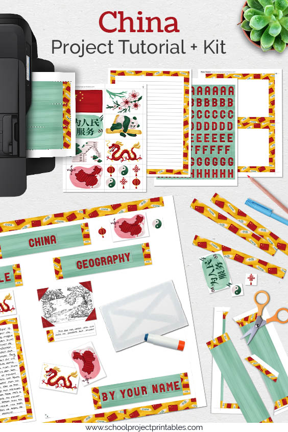 Printable kit for modern China projects.