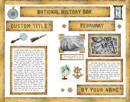 National History Day Fair display poster made from SchoolProjectPrintables.com kit