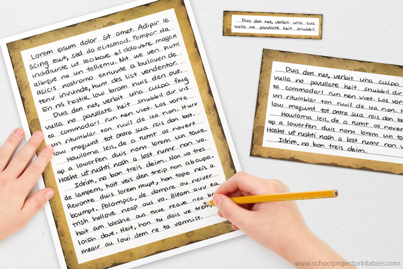 Old paper texture writing templates for handwriting History Fair projects