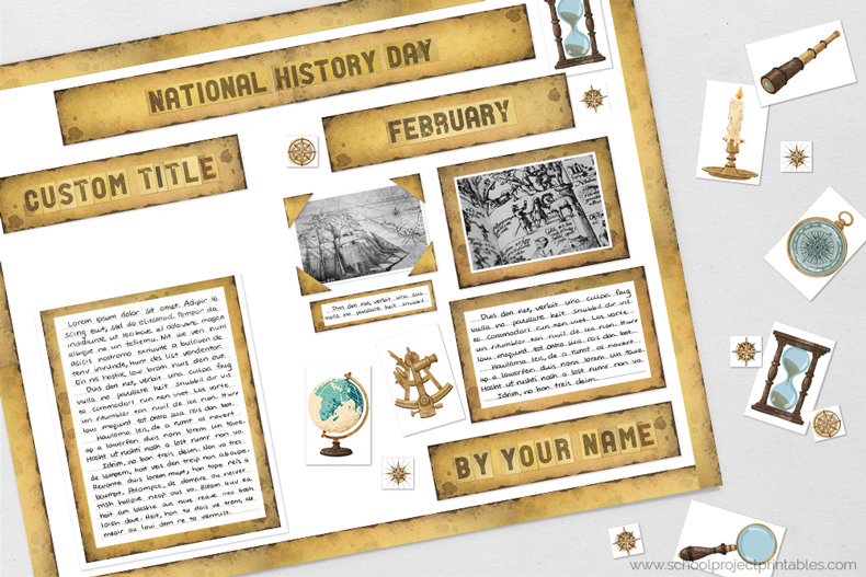 Printable clip are for history reports.