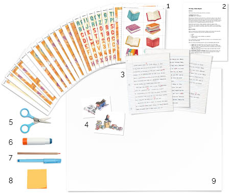 Reading Fair Book Report project display tutorial - supplies