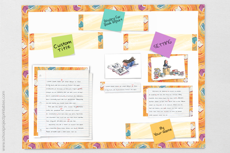 tutorial showing how to design your Reading Fair Book Report poster