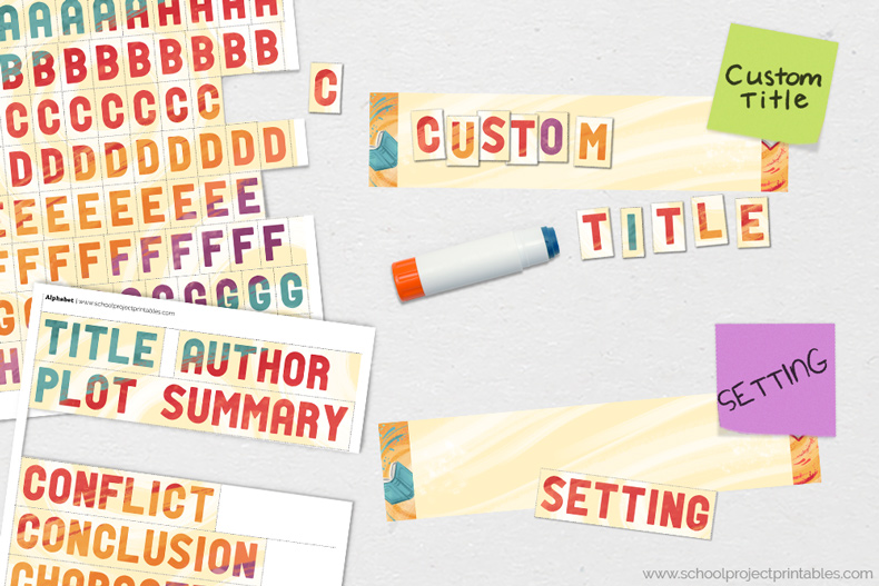 How to make custom titles for your Reading Fair Book Report report