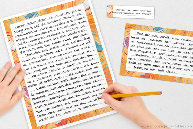 old map texture writing templates for handwriting Reading Fair Book Report projects