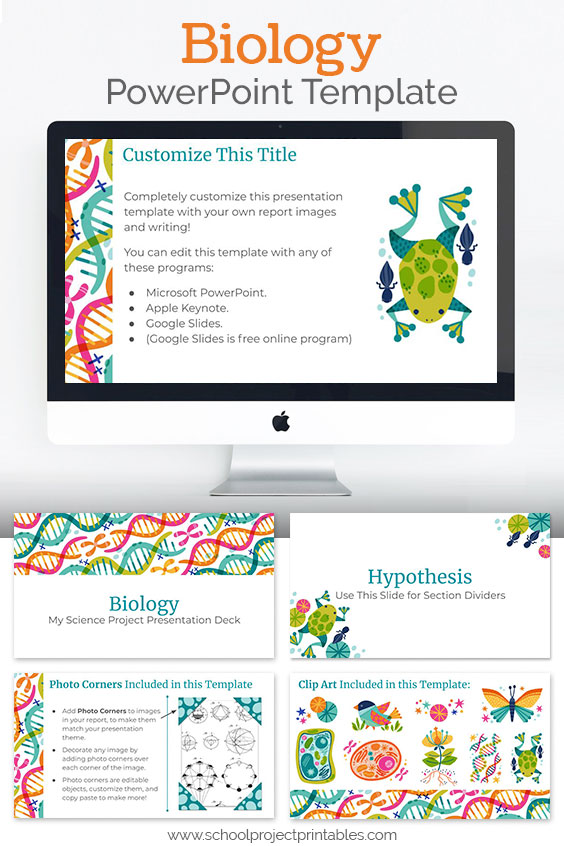 Downloadable Biology themed PowerPoint template