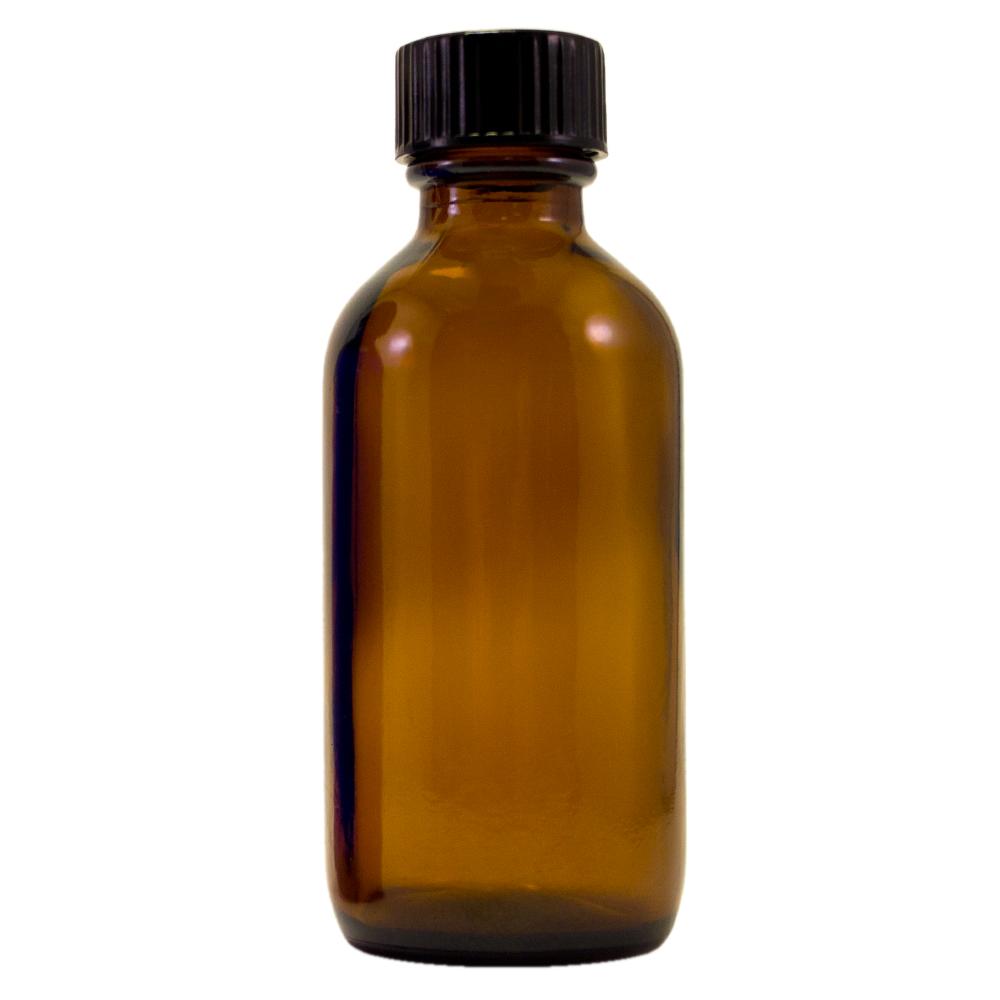 2 fl oz Amber Glass Bottle w/ Phenolic Cap