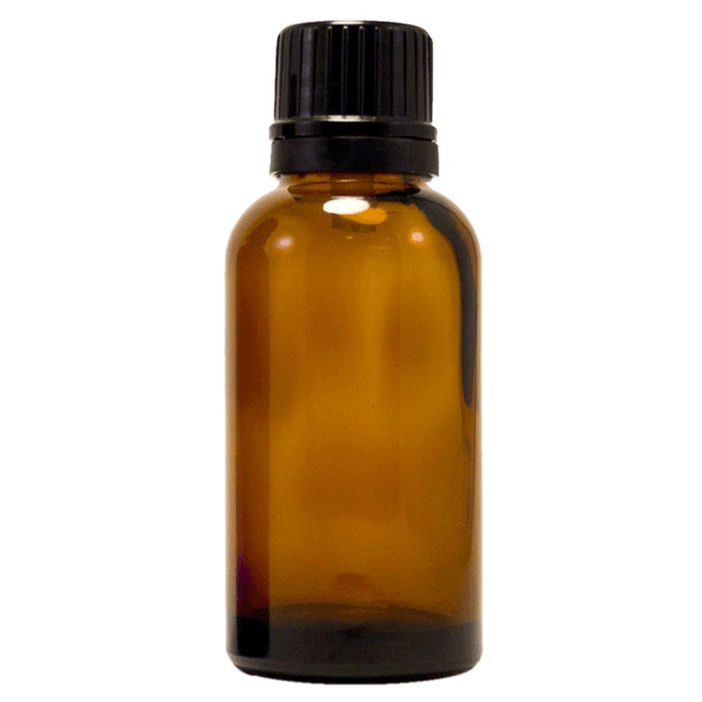1 fl oz (30 ml) Amber Glass Bottle w/ Euro Dropper