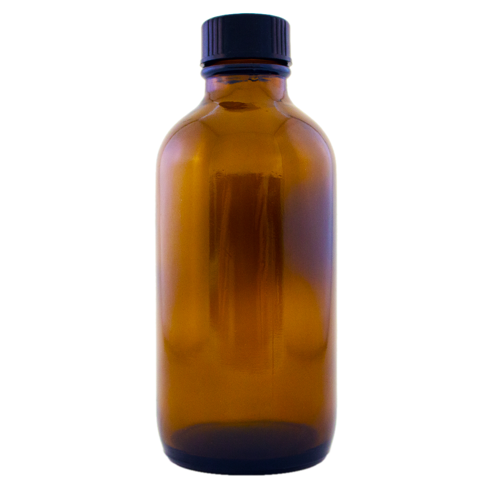 4 fl oz Amber Glass Bottle w/ Phenolic Cap