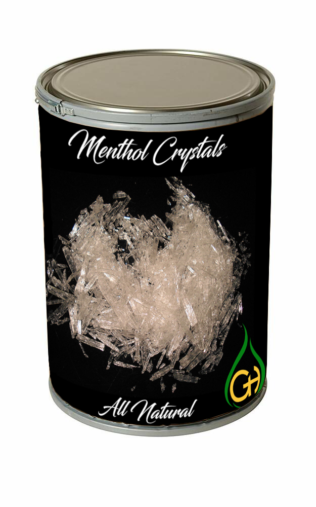 Menthol Crystals USP Grade - 25 kg (55 lbs)  - Free Shipping Lower 48 US States