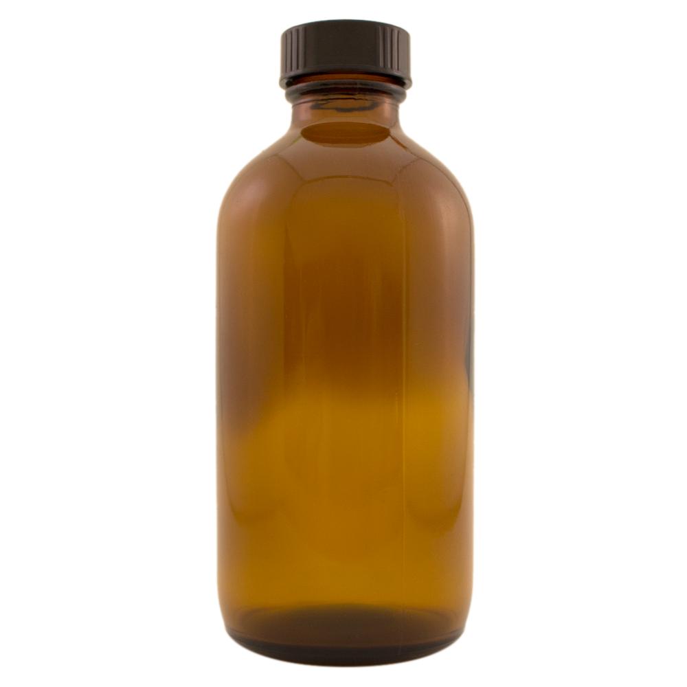 8 fl oz Amber Glass Bottle w/ Phenolic Cap