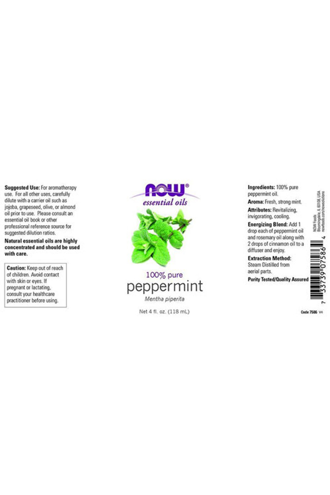 Peppermint Essential Oil - 4 oz