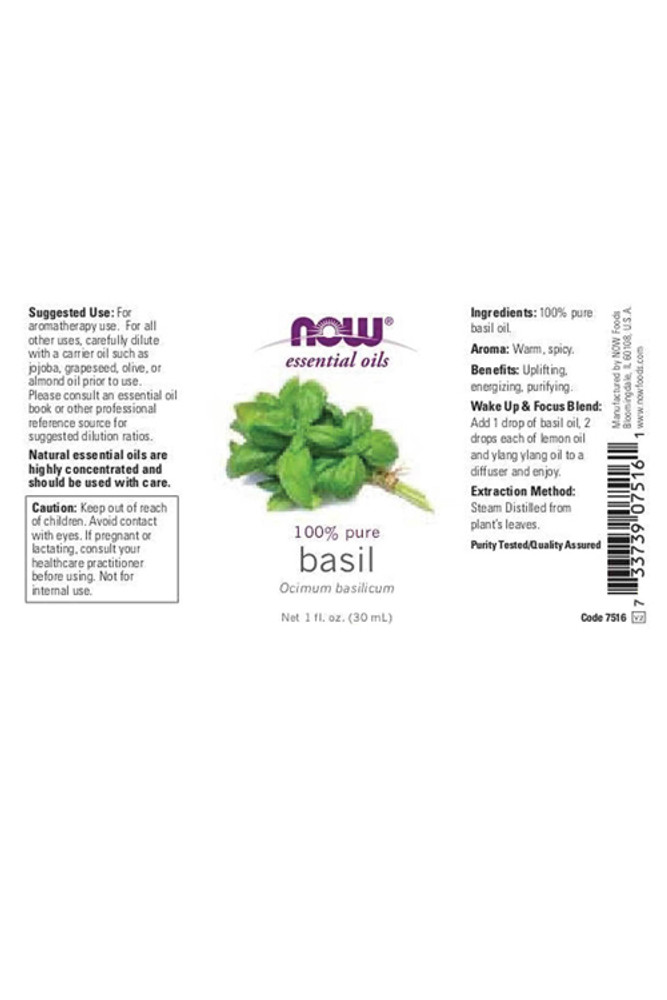 Basil Essential Oil - 1 oz