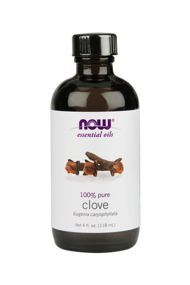 Now Food Clove oil 4oz 100% pure essential oil