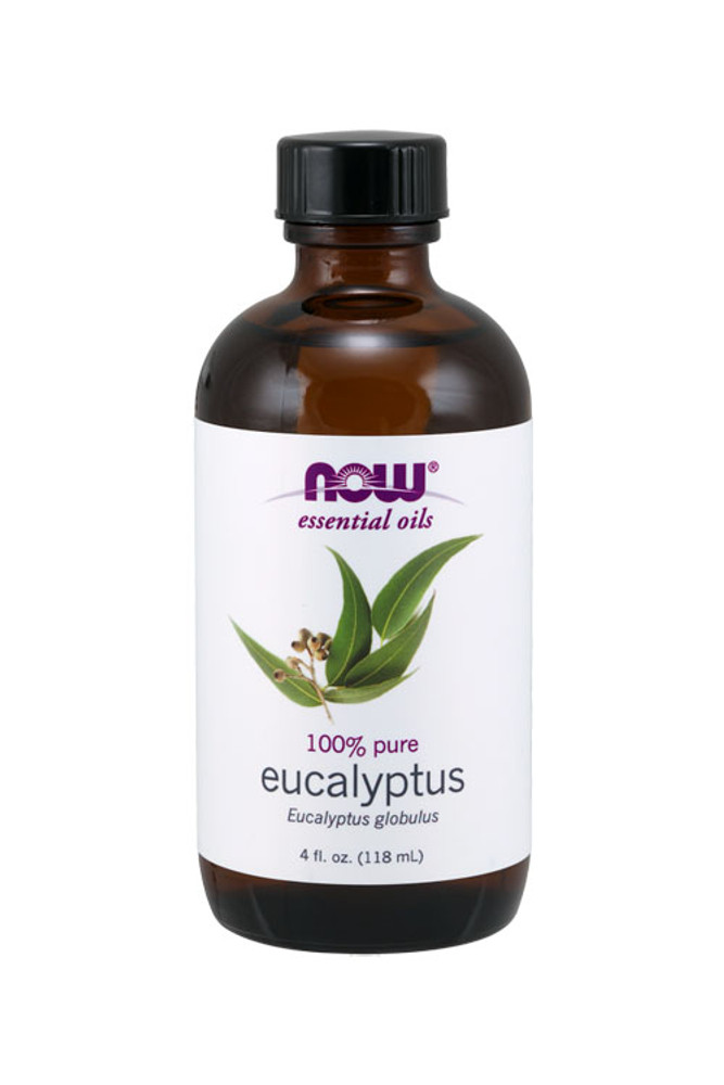 Now Foods Eucalyptus oil 4oz 100% pure essential oil