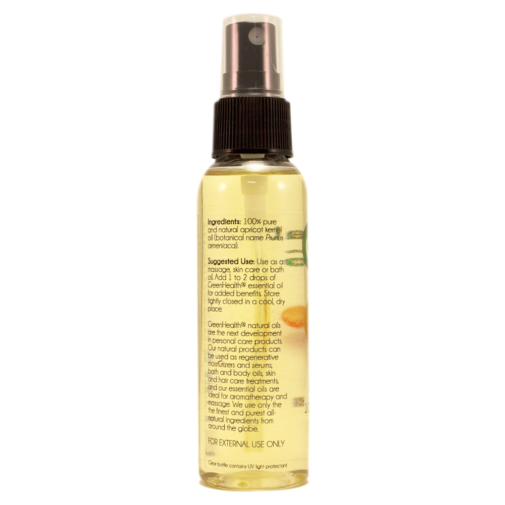 Apricot Skin Care Oil - 2 fl oz w/ Black Spray Cap