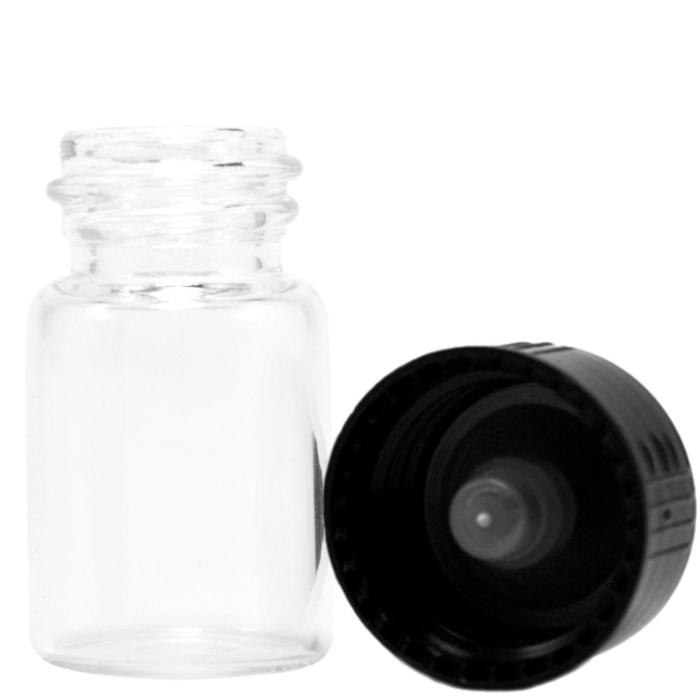 1/2 Dram Glass Vials - Pack of 12
