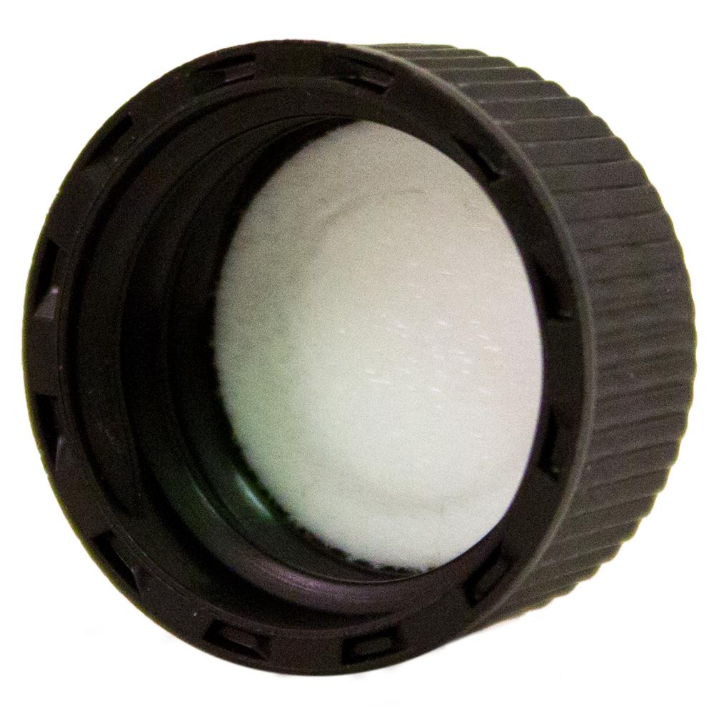 1/2 fl oz (15 ml) Amber Glass Bottle w/ Black Cap