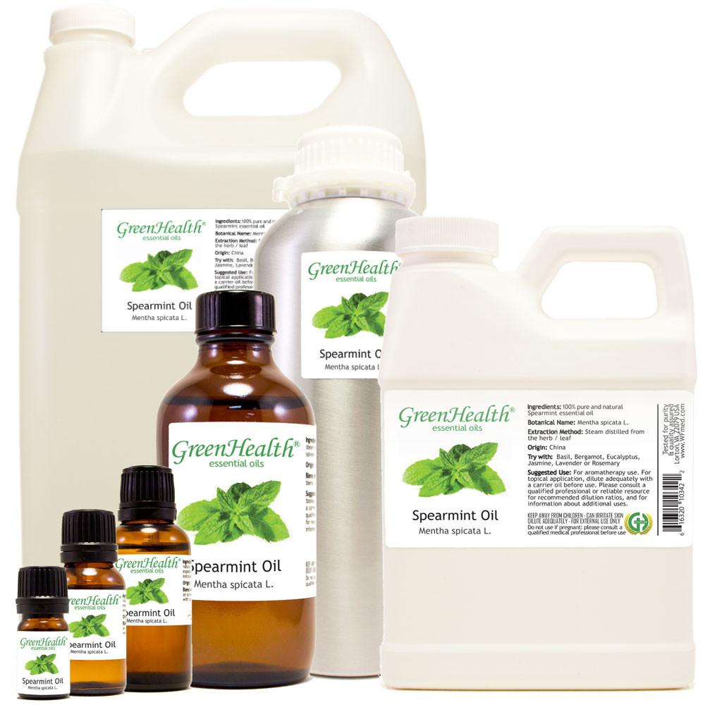 100% pure spearmint oil mentha spicata l