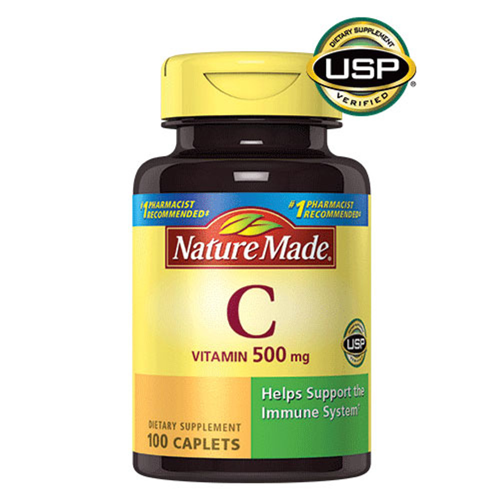 C (Vitamin C), 500 mg, 100 Caplets - Nature Made