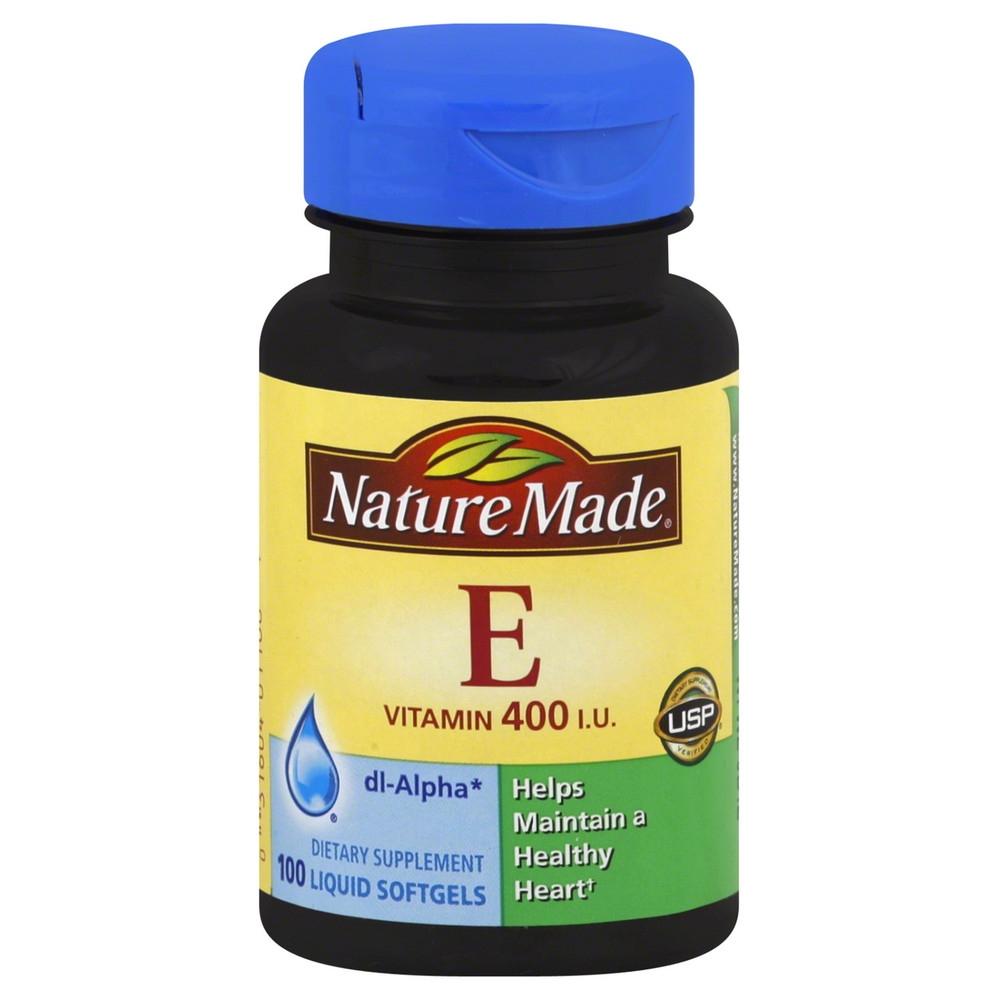 E (Vitamin E) 400 IU, 100 Liquid Softgels - Nature Made