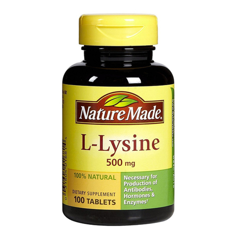 L Lysine, 500 mg, 100 Tablets - Nature Made