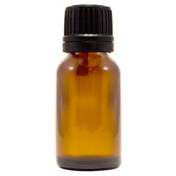 1/2 fl oz (15 ml) Amber Glass Bottle w/ Euro Dropper