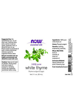 White Thyme Essential Oil - 1 oz