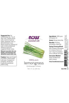 Lemongrass Essential Oil - 1 oz
