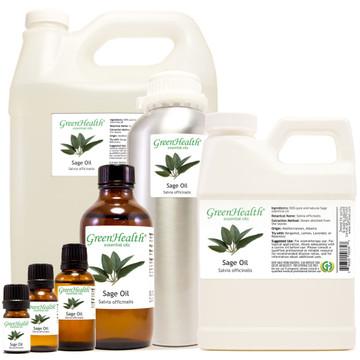 sage oil salvia officinalis 5ml 10ml 15ml 1oz 2oz 4oz 8oz 16oz 32oz