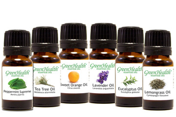 GreenHealth Top 6 Essential Oil Gift Set  (6 10ml Essential Oils) (FREE SHIPPING)