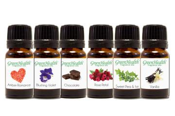 GreenHealth Romantic Fragrance Oil Gift Set (6 10ml Fragrance Oils)