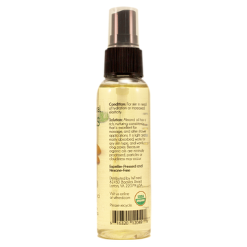 Almond Sweet ORGANIC Skin Care Oil - 2 fl oz w/ Black Spray Cap
