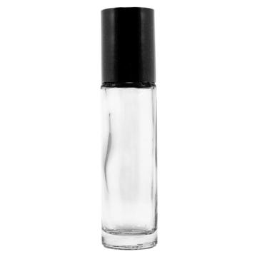 10 ml Plain Roll On Glass Bottle w/ Black Cap (Case of 144)