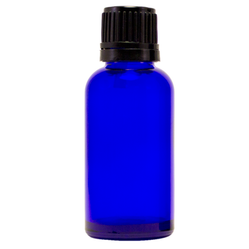 1 fl oz (30 ml) Cobalt Blue Glass Bottle w/ Euro Dropper