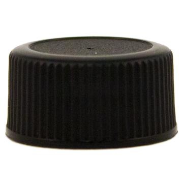 1 fl oz (30 ml) Amber Glass Bottle w/ Black Cap