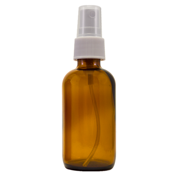 2 fl oz Amber Glass Bottle w/ White Spray Cap