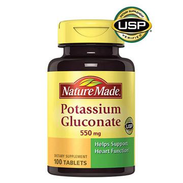 Potassium Gluconate, 550 mg, 100 Tablets - Nature Made