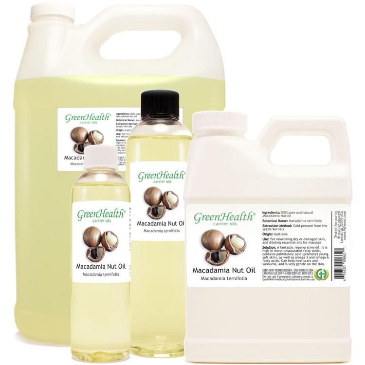 Macadamia Oil 1oz 2oz 4oz 8oz 16oz 32oz
