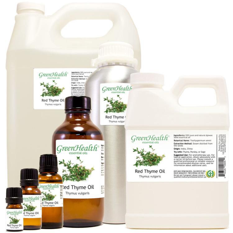 Thyme Red Essential Oil Thymus vulgaris (Syn. Thymus webbianus) 5ml 10ml 15ml 1oz 2oz 4oz 8oz 16oz 32oz