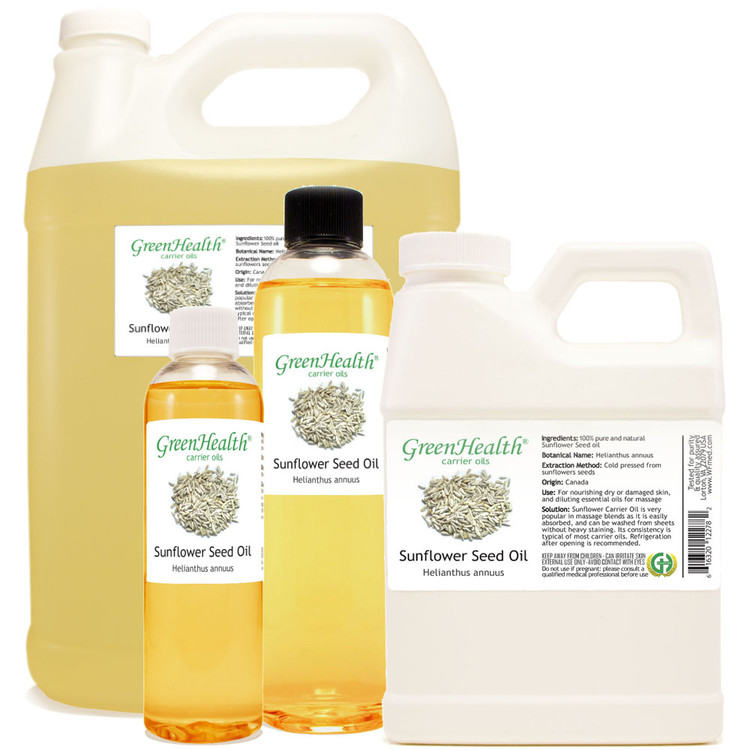 Sunflower Seed Oil 1oz 2oz 4oz 8oz 16oz 32oz 1gallon