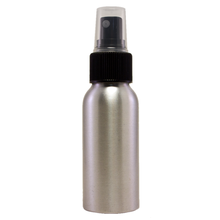 2 fl oz Aluminum Bottle w/ Black Spray Cap