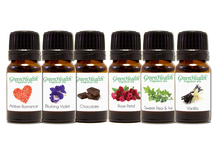GreenHealth Romantic Fragrance Oil Gift Set (6 10ml Fragrance Oils)