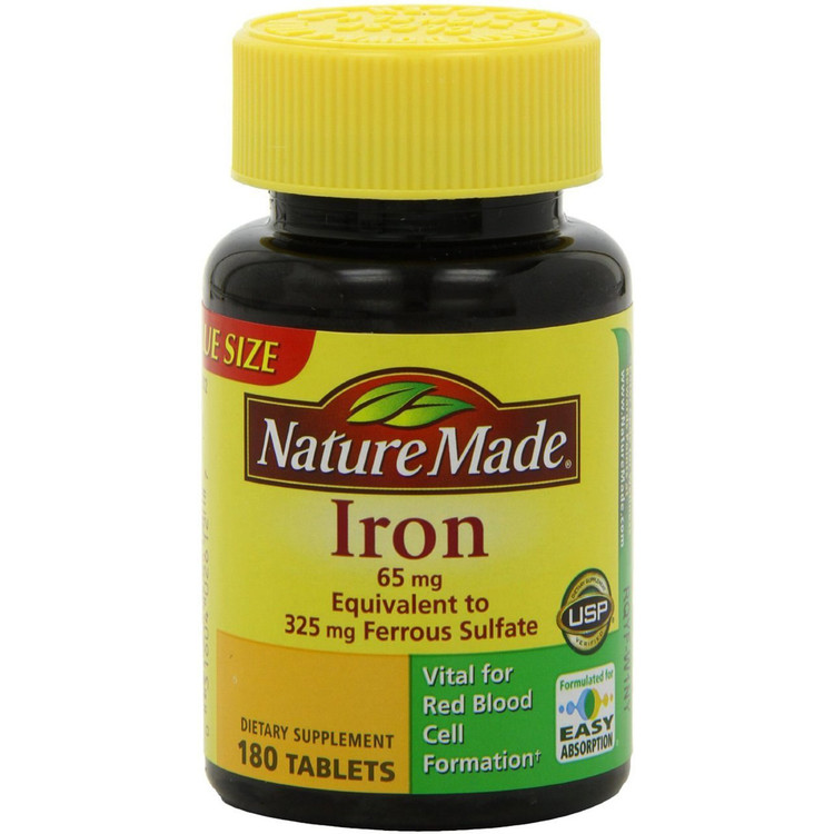Iron, 65 mg, 180 Tablets - Nature Made