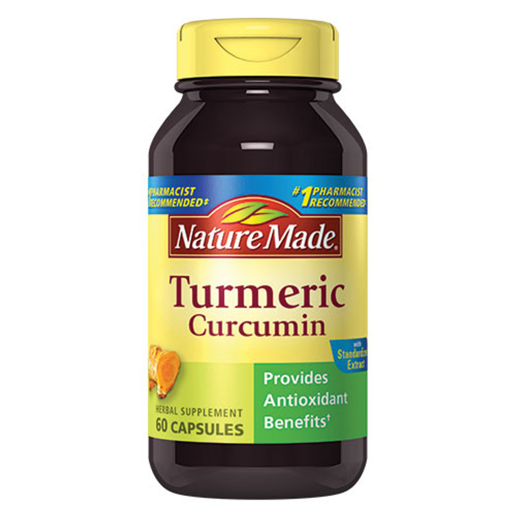 Turmeric (Curcumin), 500 mg, 60 Capsules - Nature Made
