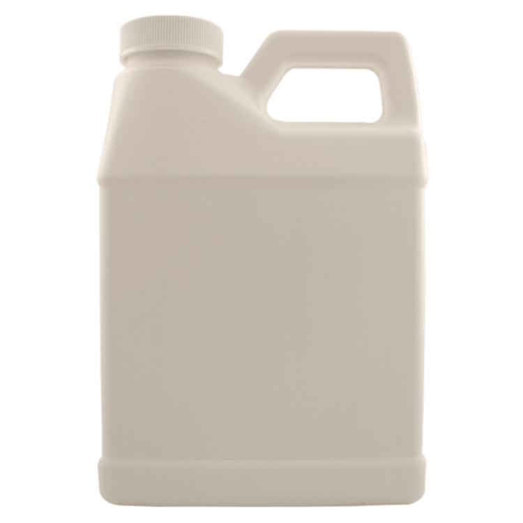 16 fl oz White Plastic Jug w/ White Cap