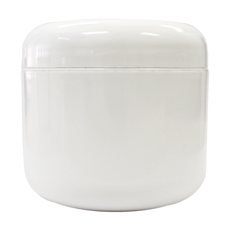 4 oz White Plastic Jar w/ Dome Lid